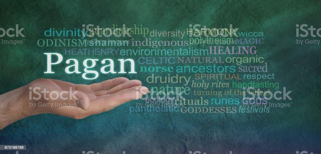 Pagan Word Cloud stock photo