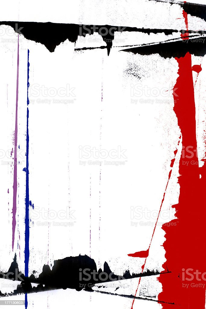 Page Border Painting royalty-free stock photo