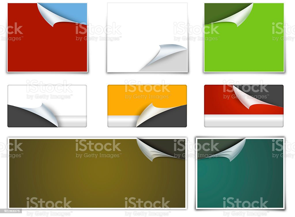 Page Curl Design Elements royalty-free stock photo