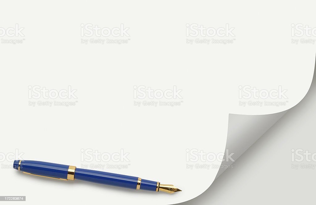 Page Curl & Pen royalty-free stock photo