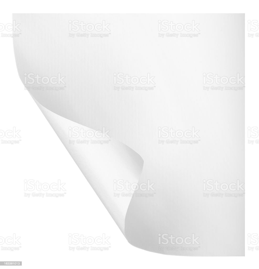 Page curl stock photo