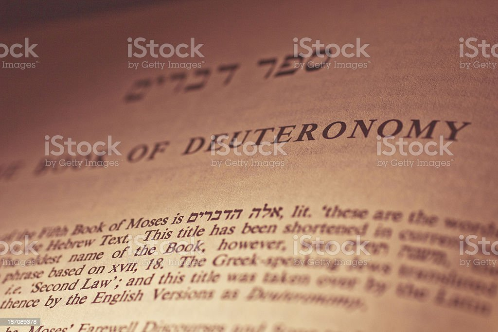 Page from book of Deuteronomy royalty-free stock photo