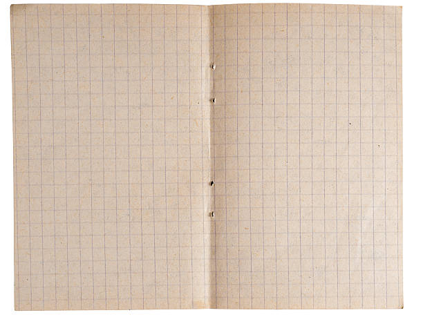 Page from notebook with cages stock photo