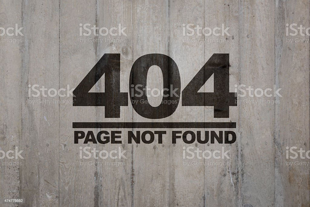Page not found - 404 stock photo