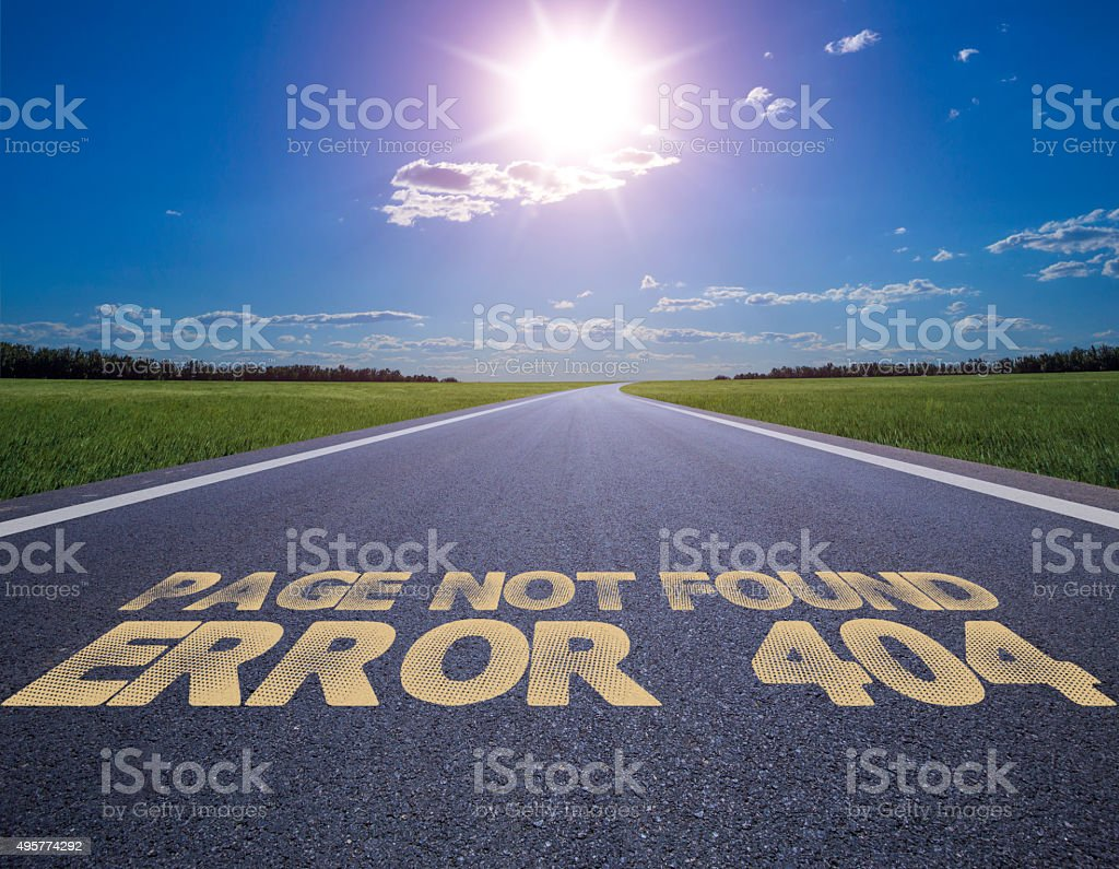 page not found error 404 stock photo
