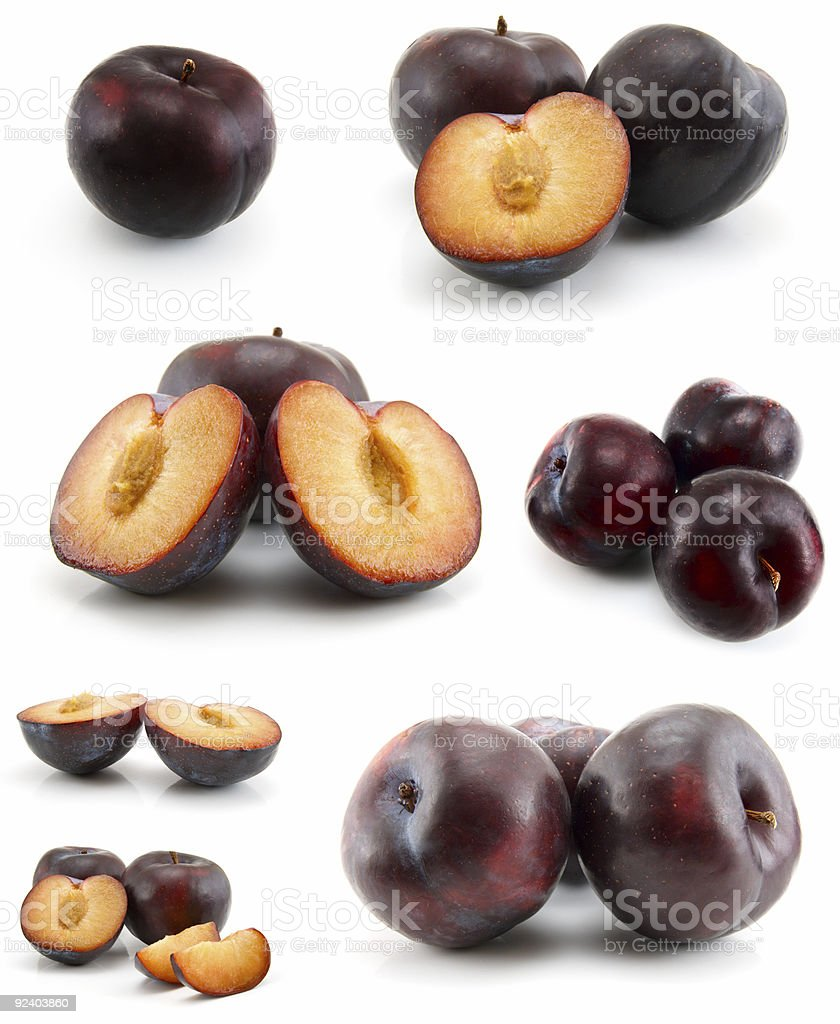 page of plums royalty-free stock photo