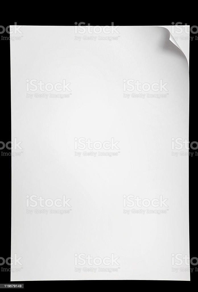 Página con flexión - foto de stock