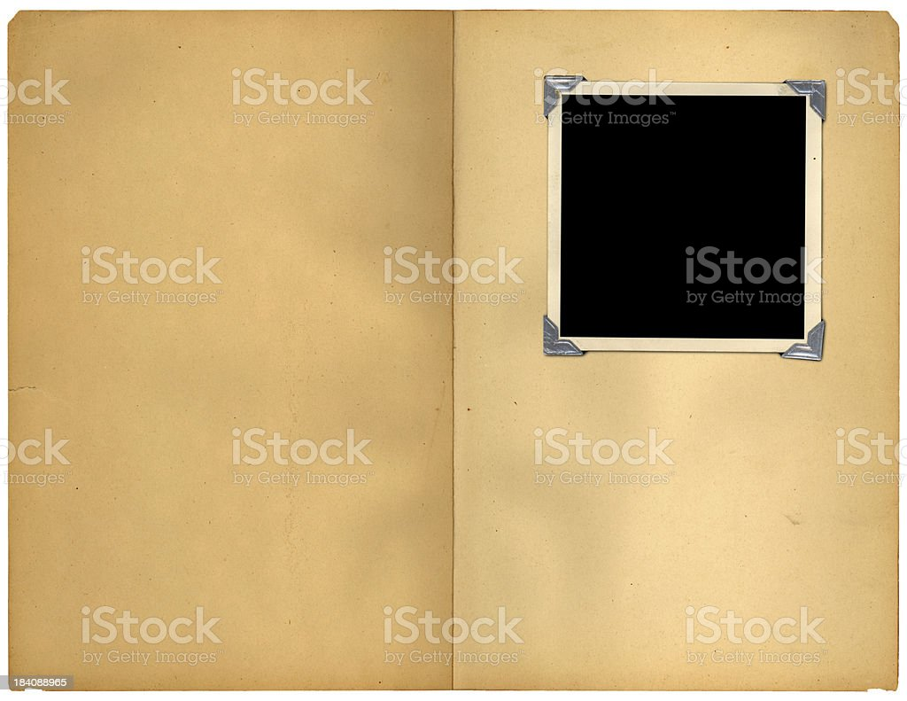 pages and frame stock photo