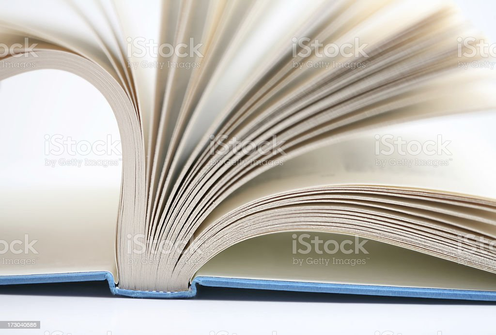 Pages In A Book Turn stock photo
