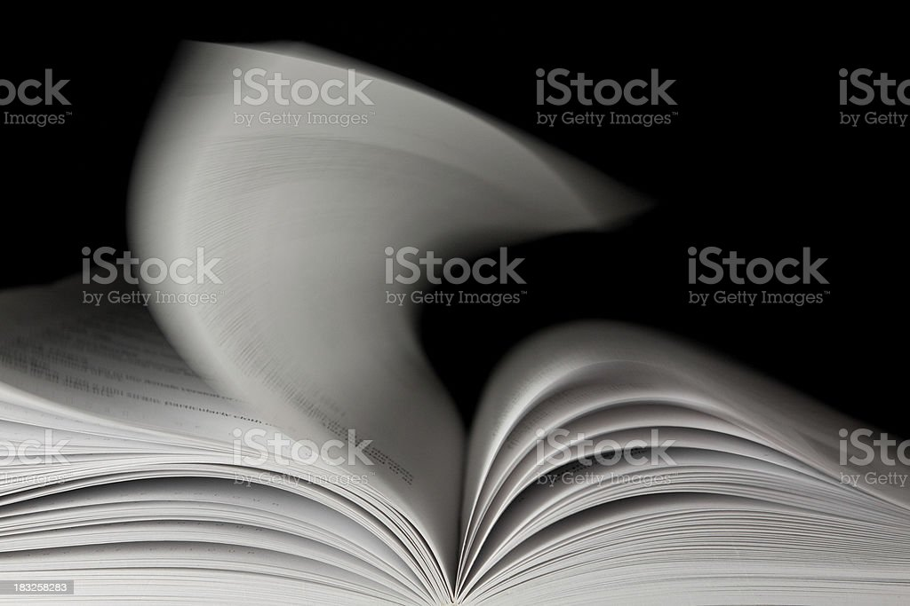 Pages of a Book Turning Over stock photo