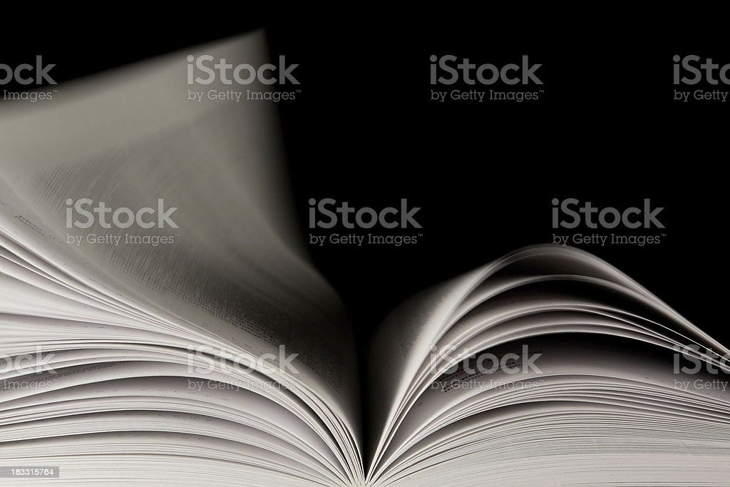 Pages of a Book Turning stock photo
