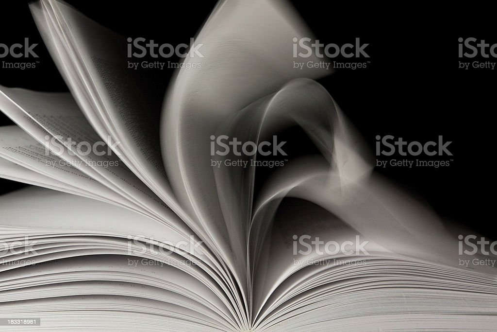 Pages of a Book Turning Quickly royalty-free stock photo
