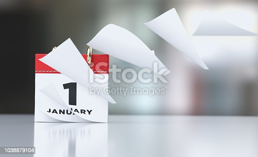 istock Pages Of A Red Calendar Standing Over Defocused Background Are Flying Away 1038879104
