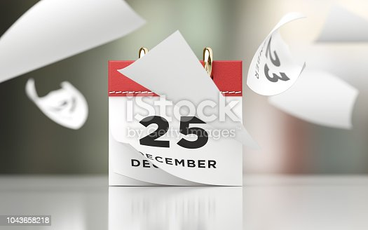 istock Pages Of A Red Calendar Standing Over Defocused Background Are Flying Away 1043658218