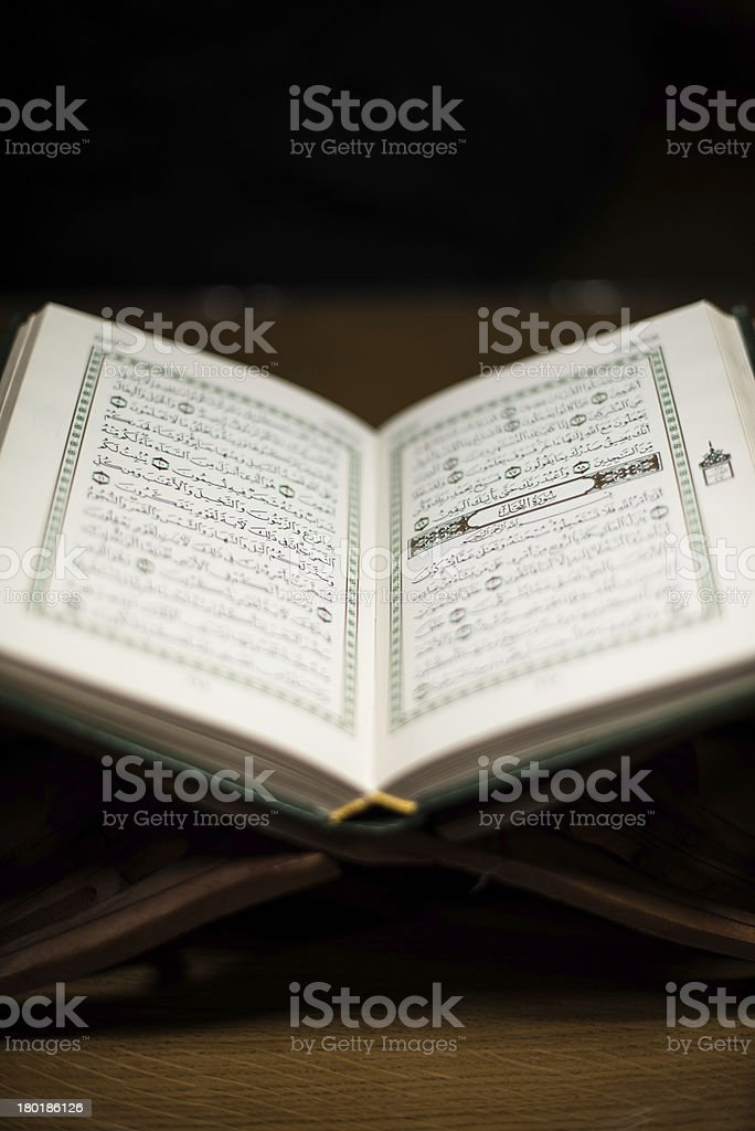 pages of holy koran the testament royalty-free stock photo
