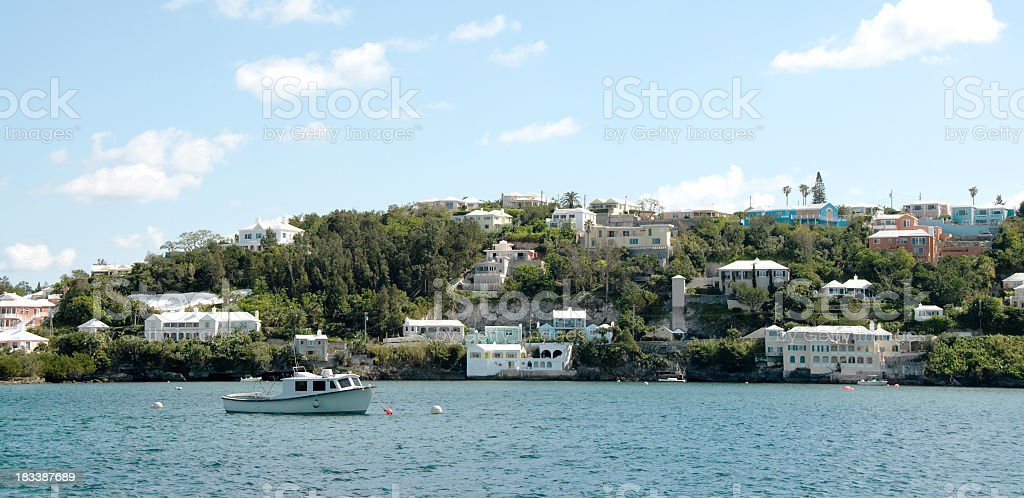 Paget and Harbour in Hamilton, Bermuda stock photo