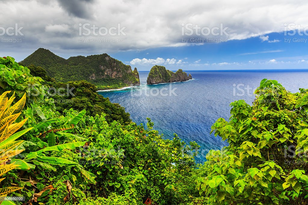 Pago Pago, American Samoa. stock photo