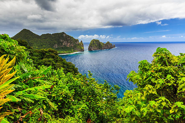 Pago Pago, American Samoa. Pago Pago, American Samoa. Camel Rock near the village of Lauli'i. country geographic area stock pictures, royalty-free photos & images