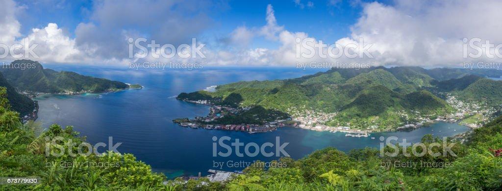 Pago Pago Harbor, American Samoa stock photo