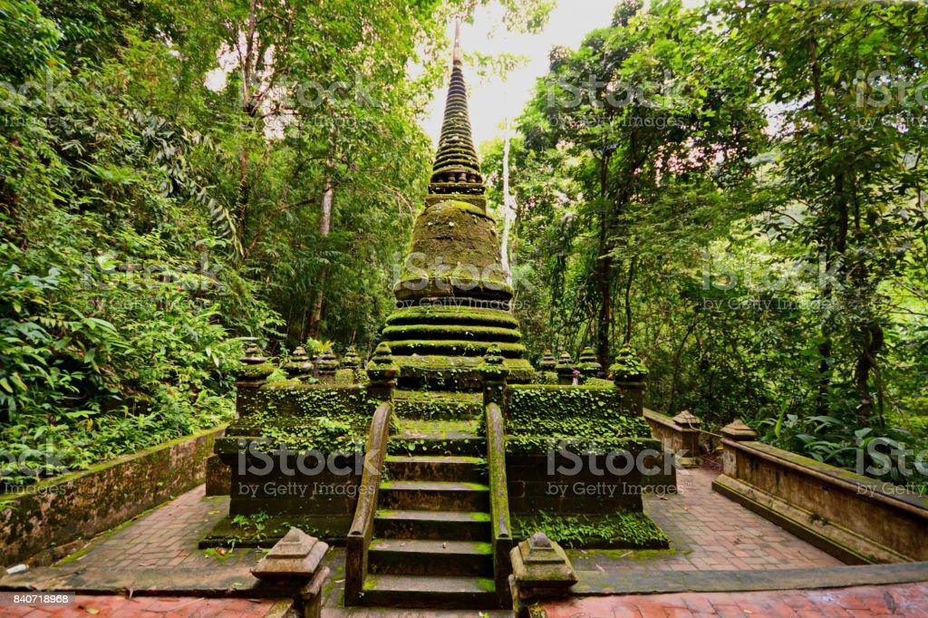 Pagoda Alongkorn Chedi in Chanthaburi, Thailand stock photo