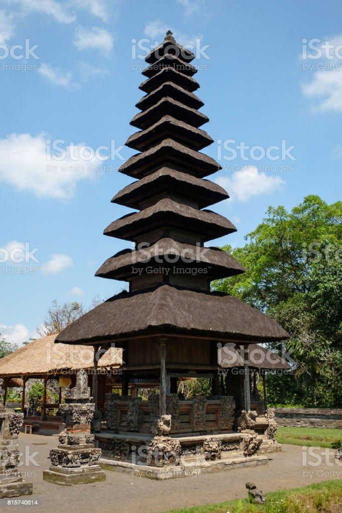 Pagoda at Taman Ayun temple - Bali stock photo