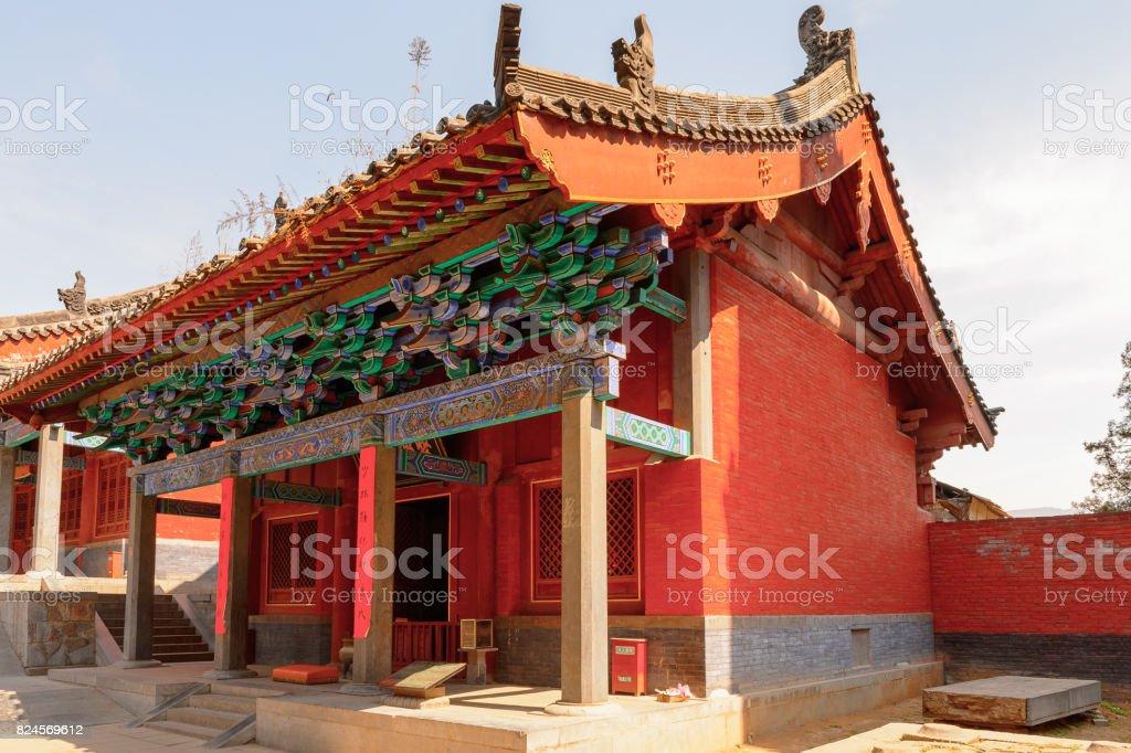 Pagoda at the Authentic Shaolin Monastery (Shaolin Temple), a Zen Buddhist temple. UNESCO World Heritage site stock photo