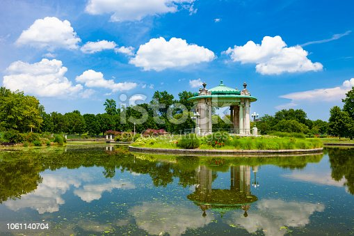 Bandstand in Pagoda Circle in Forest Park.
