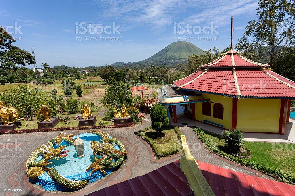 Pagoda Ekayana, Tomohon, Sulawesi Utara stock photo