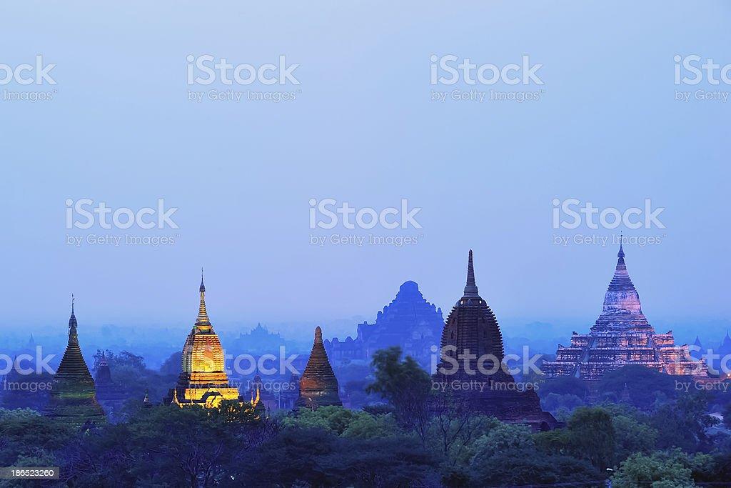 Pagoda field in Bagan Burma royalty-free stock photo