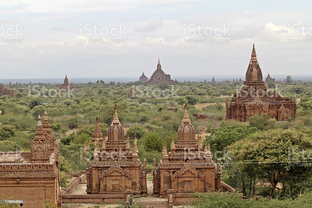 Pagoda field of Bagan royalty-free stock photo