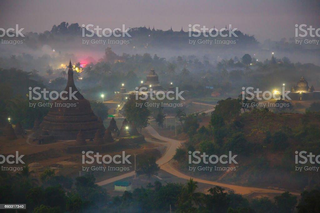 pagoda field stock photo