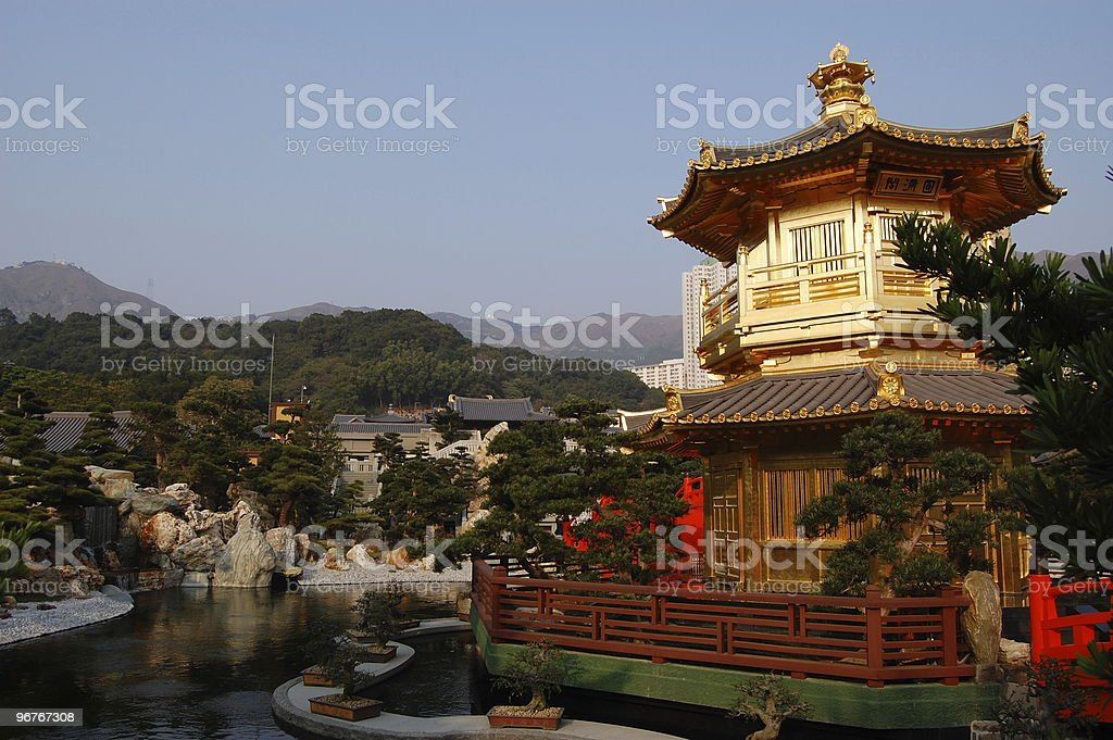 Pagoda in Chinese garden royalty-free stock photo