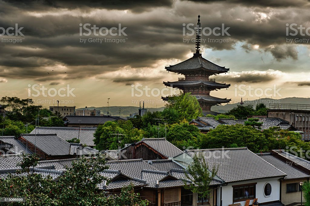 Pagoda in Kyoto stock photo