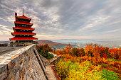 istock Pagoda in Reading Pennsylvania 628551344