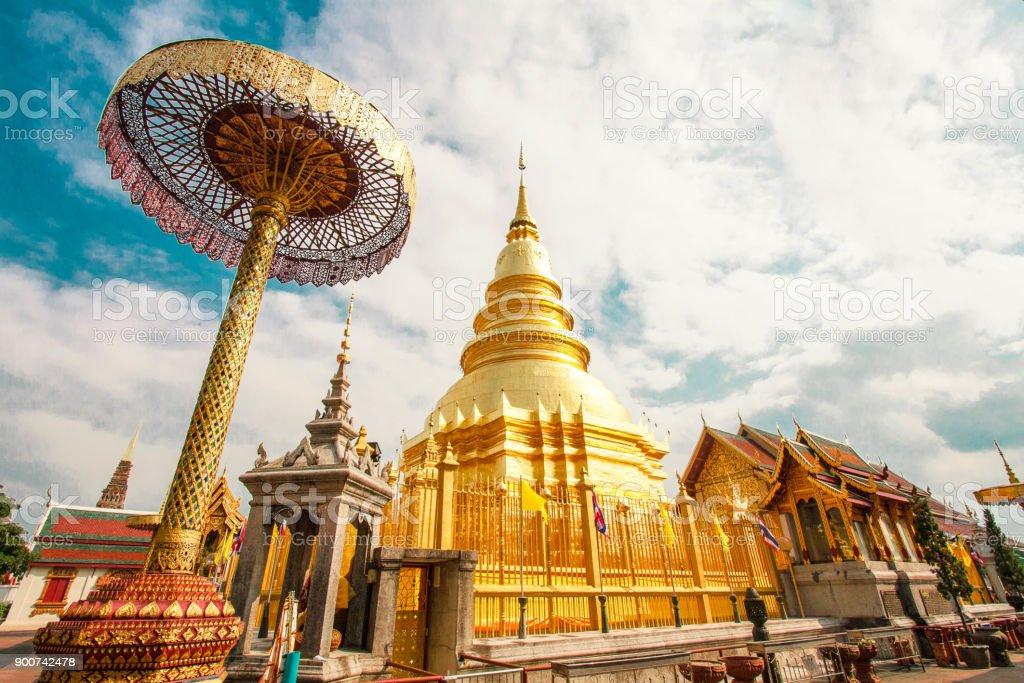 pagoda in thailand stock photo