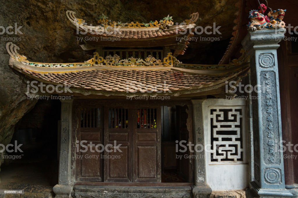 Pagoda in the cave stock photo