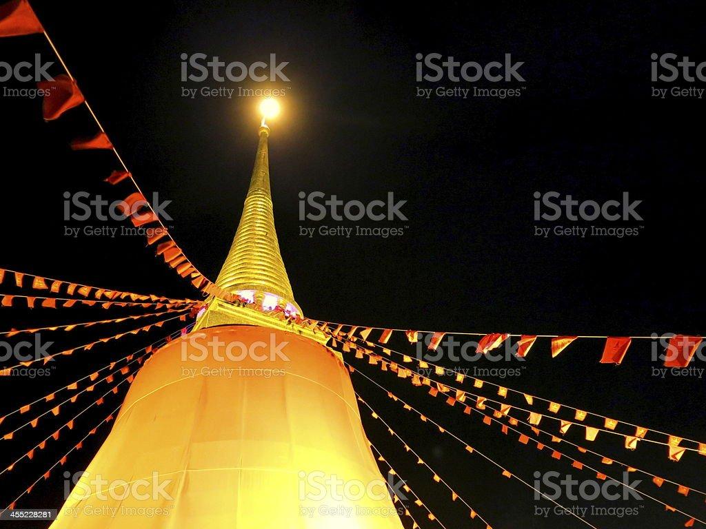Pagoda, Stupa, and Buddhism royalty-free stock photo