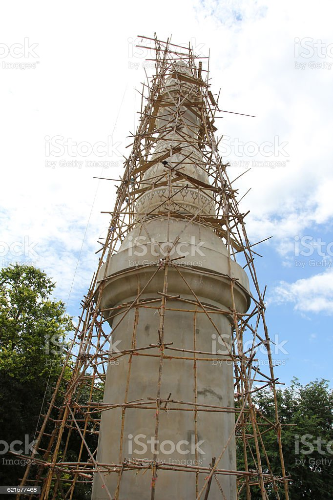 Pagoda under construction, Temple in Thailand photo libre de droits