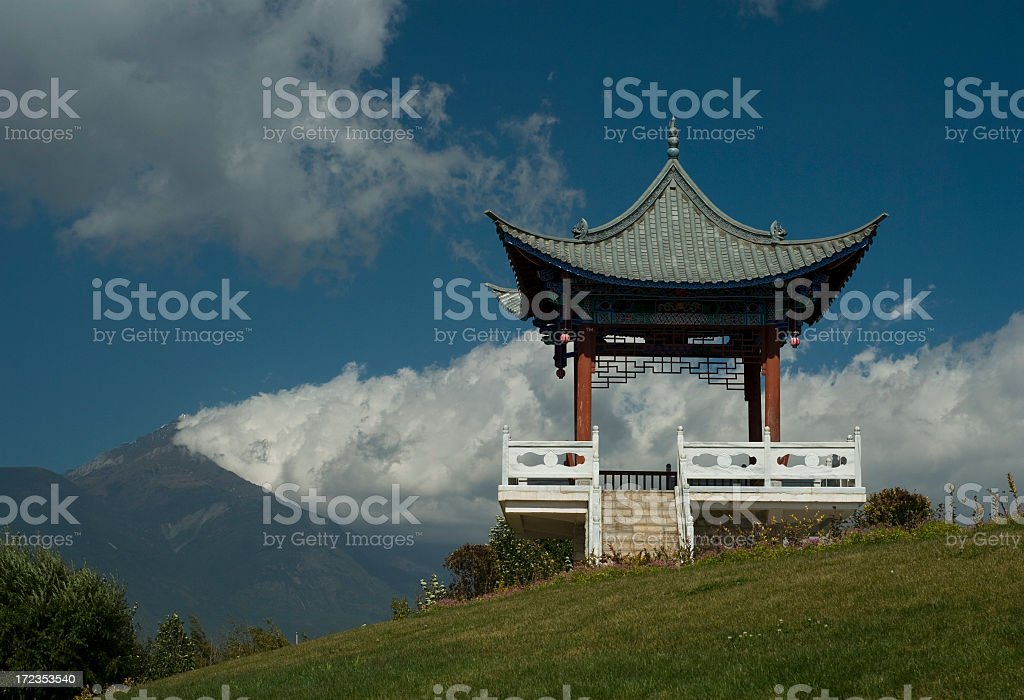 Pagoda With A View royalty-free stock photo