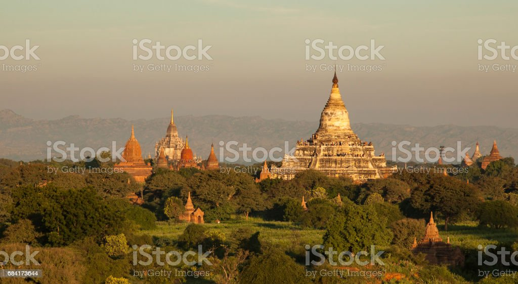 Pagodas of Bagan royalty free stockfoto