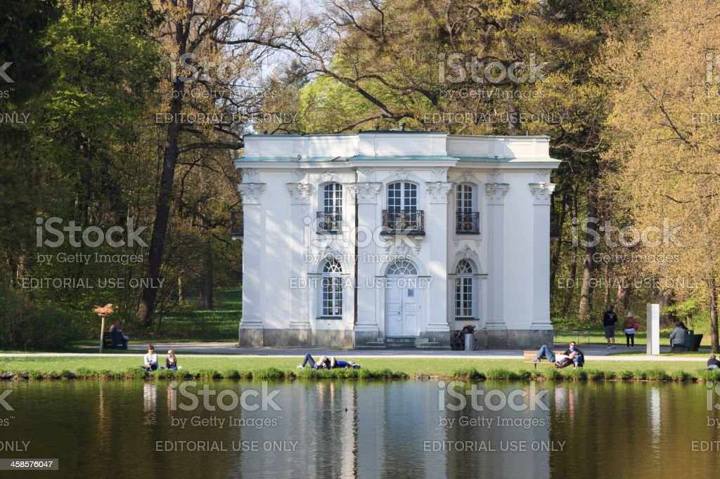 Pagodenburg in the park behind Nymphenburg Palace, Munich stock photo