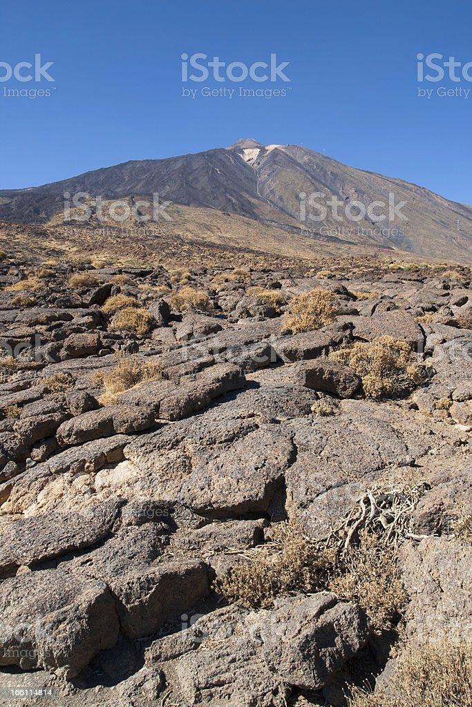 Pahoehoe lava at mount Teide royalty-free stock photo