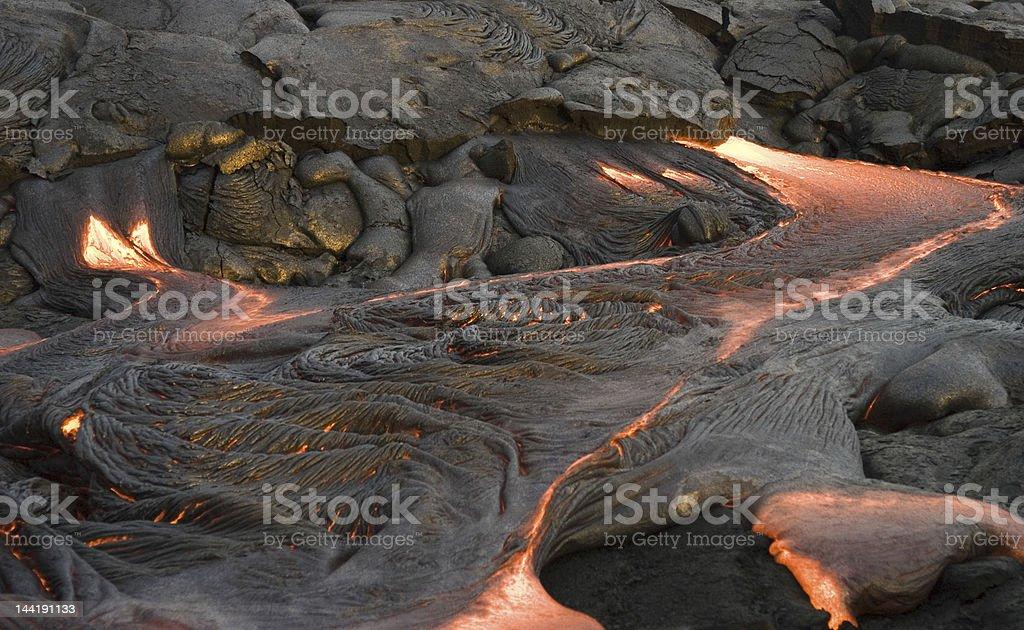 Pahoehoe Lava  Breakout stock photo