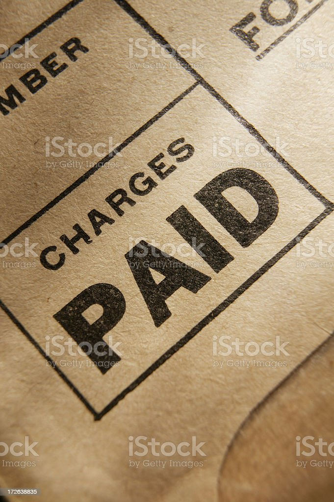 Paid 1 royalty-free stock photo