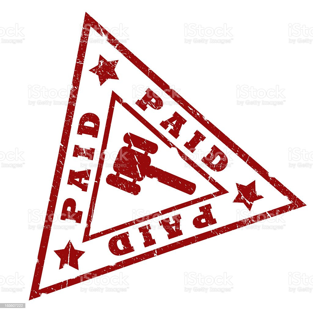 Paid stamp royalty-free stock photo