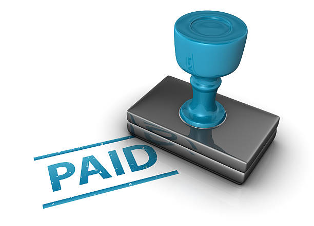 paid stamp - paid stock pictures, royalty-free photos & images