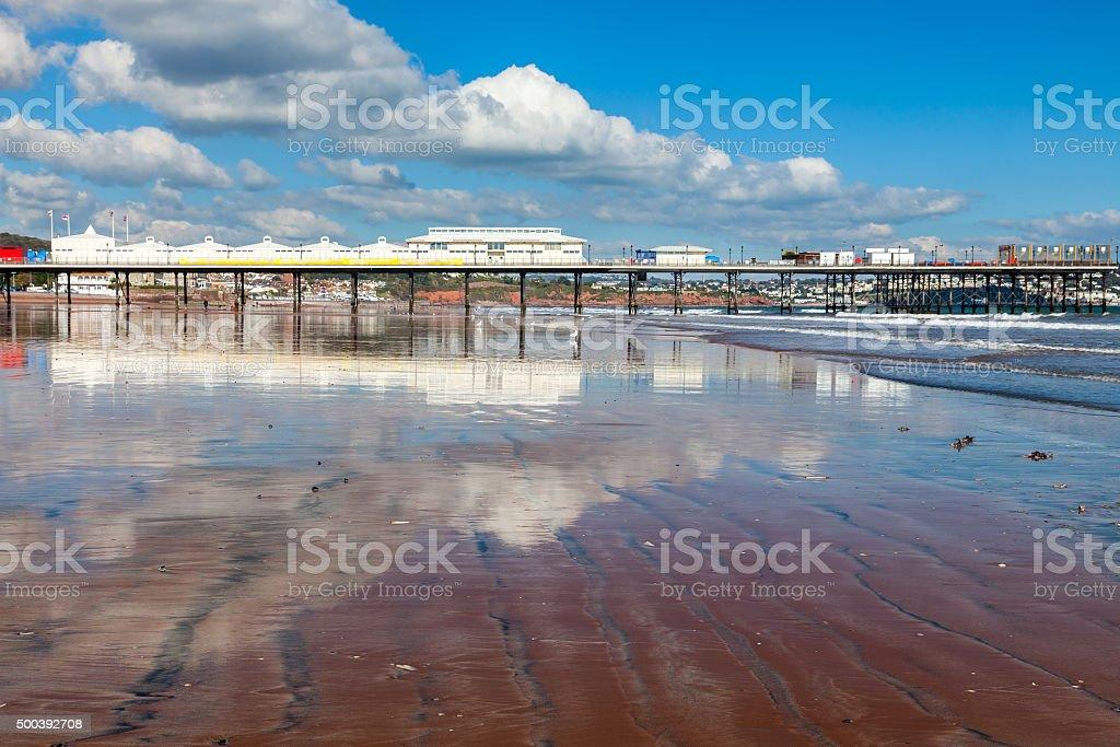 Paignton Beach Devon England stock photo