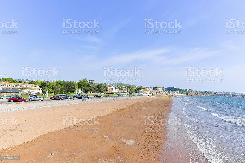 Paignton beach, Devon, UK stock photo