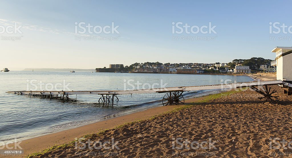 Paignton England seaside resort South Devon stock photo