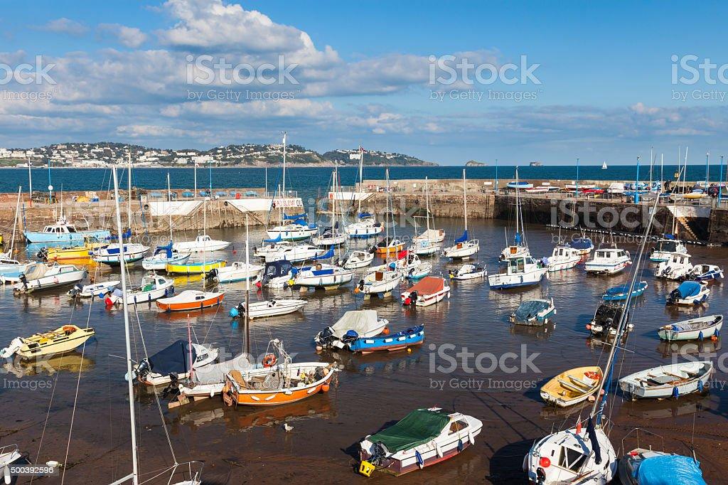 Paignton Harbour Devon stock photo
